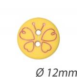 Bouton enfant papillon 2 trous - 408