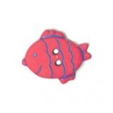 Bouton enfant poisson 2 trous - 408
