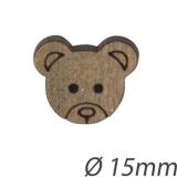 Bouton enfant tête d'ours en bois - 408