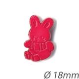 Bouton enfant lapin - 408