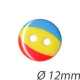 Bouton enfant ballon rouge jaune et bleu - 408