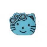 Bouton enfant tête de chat (façon Hello Kitty) - 408