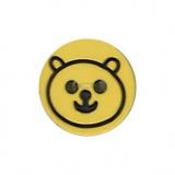 Bouton enfant tête d'ours gravée - 408