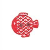 Bouton enfant forme poisson strié blanc - 408