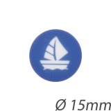 Bouton enfant bâteau 15mm - 408
