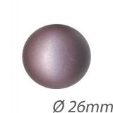 Bouton couture 1/2 boule métal peint - 408