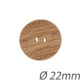 Bouton couture fantaisie en bois 22mm - 408