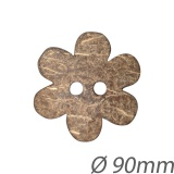 Bouton fleur en coco - 408
