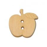 Bouton enfant pomme en bois - 408