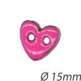 Bouton coeur coco peint - 408