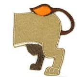 Thermocollant lion arrière - 408