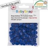 Bouton pression BabySnap® bleu - 408