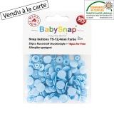 Bouton pression BabySnap® bleu layette - 408