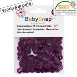 Bouton pression BabySnap® prune - 408