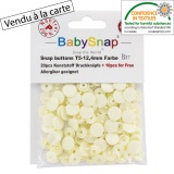 Bouton pression BabySnap® écru - 408