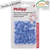 Bouton pression BabySnap® bleu lavande - 408