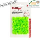 Bouton pression BabySnap® vert fluo - 408