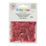 Bouton pression BabySnap® rouge - 408