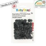 Bouton pression BabySnap® gris foncé - 408