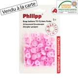 Bouton pression BabySnap® rose - 408
