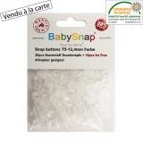 Bouton pression plastique BabySnap® transparent - 408