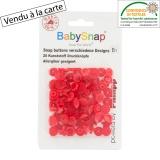 Bouton pression BabySnap® étoile rouge - 408