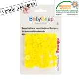 Bouton pression BabySnap® étoile jaune - 408