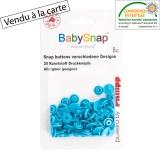 Bouton pression BabySnap® étoile turquoise - 408