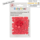 Pression baby snap type kam coeur rouge - 408