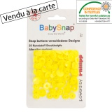 Bouton pression BabySnap® coeur jaune - 408