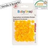 Pression baby snap type kam coeur orange - 408
