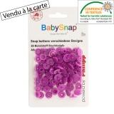 Bouton pression BabySnap® coeur lilas - 408