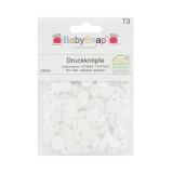 Bouton pression BabySnap® mat 11mm blanc - 408