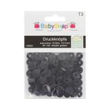 Bouton pression BabySnap® mat 11mm noir - 408