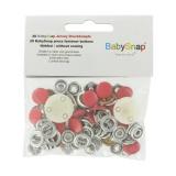 Bouton pression jersey BabySnap® métal rouge - 408