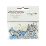 Bouton pression jersey BabySnap® métal bleu - 408