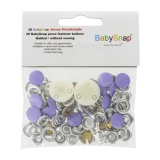 Bouton pression jersey BabySnap® métal violet - 408