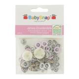 Pression anneau métal jersey BabySnap® 10mm rose - 408