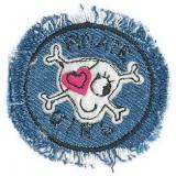 Thermocollant tete de mort jeans 5 x 5 cm - 408