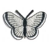 Thermocollant papillon beige et noir 3,5 x 5 cm - 408