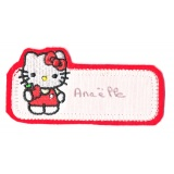 Thermocollant etiquette Hello Kitty 4 x 8,5 cm - 408