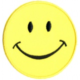 Thermocollant smile jaune 7,5 x 7,5 cm - 408