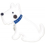Thermo Chien collier strass bleu - 408