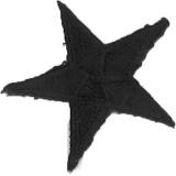 Thermocollant étoile broderie noire 3 x 3cm - 408