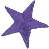 Thermocollant étoile broderie violette - 408