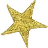 Thermocollant étoile broderie dorée 3 x 3cm - 408