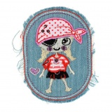 Thermocollant Pirate fille jean clair 7,5cm x9,5cm - 408