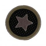 Thermocollant étoile dans un cercle 7 x 7 cm - 408