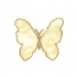 Thermocollant papillon beige 5,5 x 4,5 cm - 408