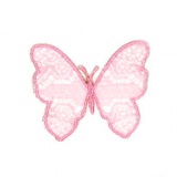 Thermocollant papillon rose 5,5 x 4,5 cm - 408